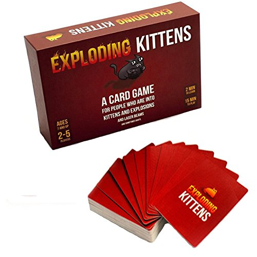 {Expl-oding Kit tens} Card Game - 56 Cards