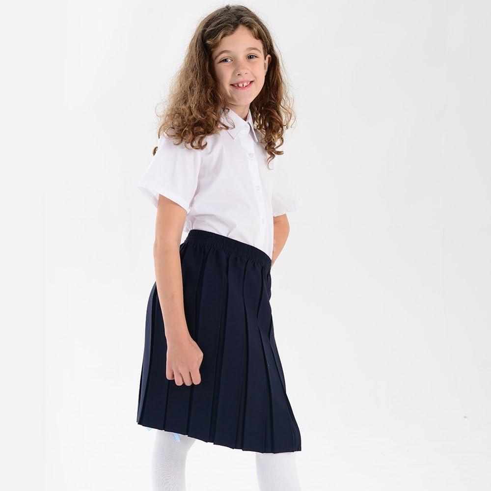 Boys Girls School White Short Sleeves Shirts adam /& eesa Pack of 2 UK Size