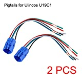 Ulincos 19mm Pigtail, Wire Connector, Socket Plug for U19C1 Push Button Switch (Pack of 2)