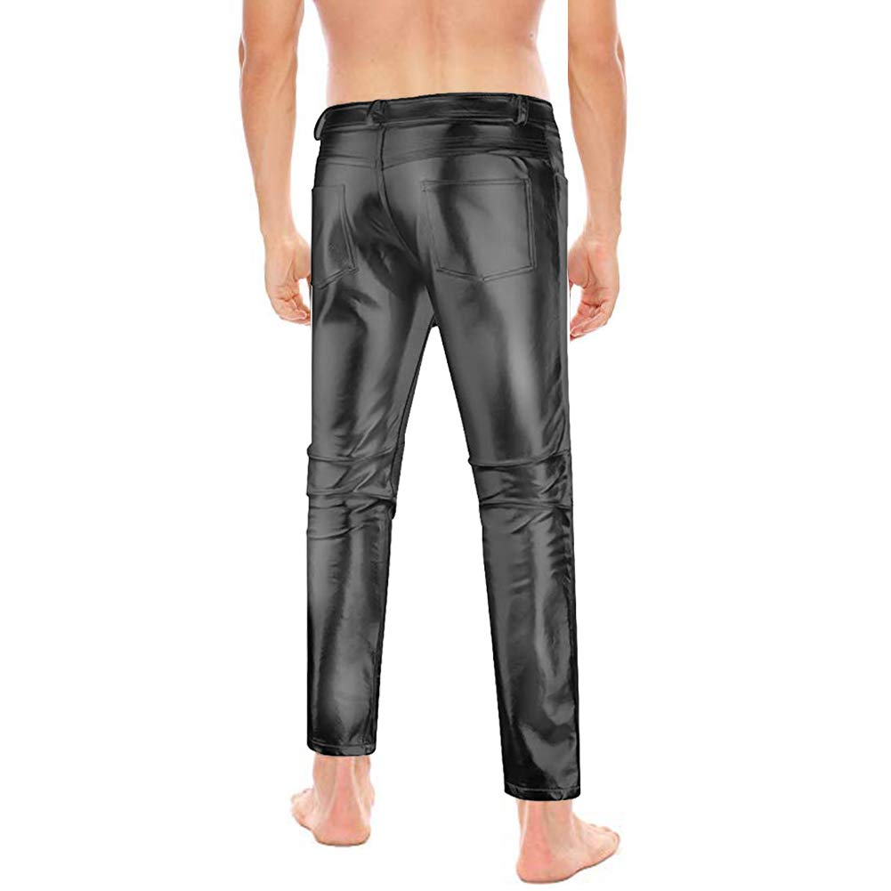 dad3eedc62cb78 Amor Present Men's Metallic Shiny Clubwear Pants Jeans for Christmas  Halloween Parties at Amazon Men's Clothing store: