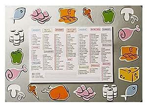 Memo aimante Magnetique Liste de cocina de Course 35x 25cm