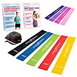 Sport2People Exercise Resistance Hip Loop Bands for Booty Building with Workout E-Books - Strength Training and Physical Therapy