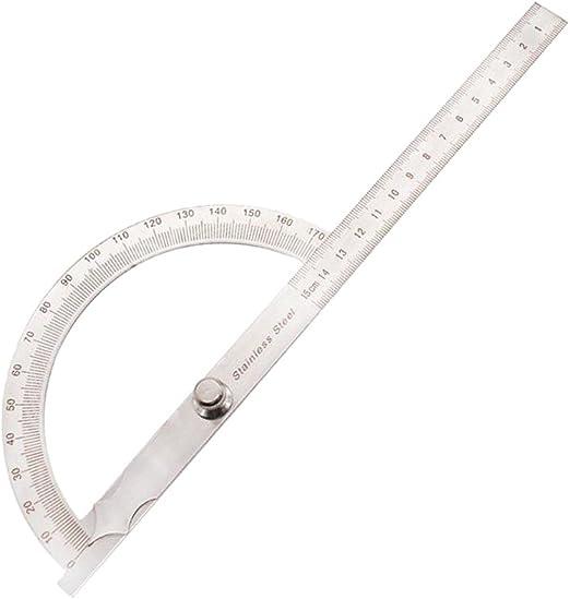 Multi Messung Winkel Lineal Winkelmesser Werkzeug Für Einfaches Messen Von Winkeln Silber 0 150mm Amazon De Baumarkt