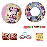 UPD Disney Junior Minnie Mouse 5 Piece Beach & Pool Bundle Set w/