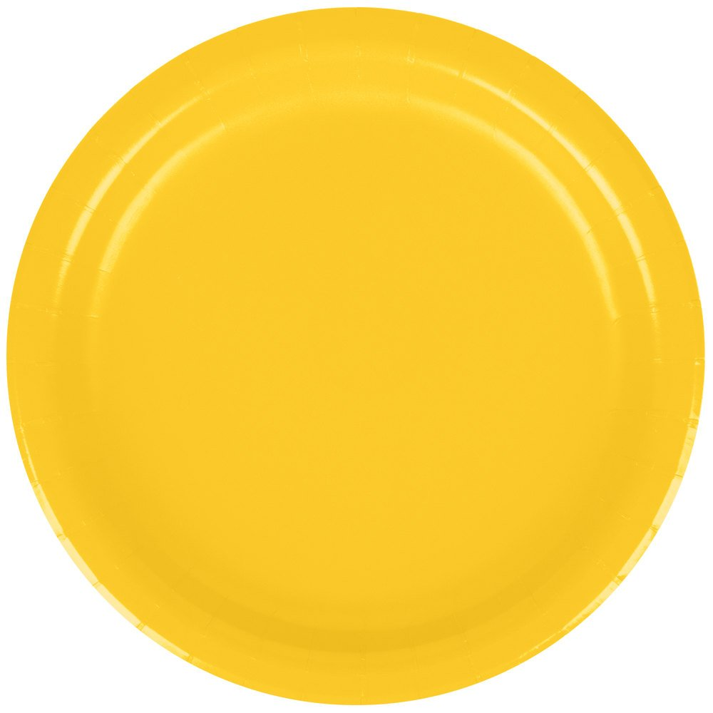 Creative Converting 791021B 7'' School Bus Yellow Paper Plate 24/Pack