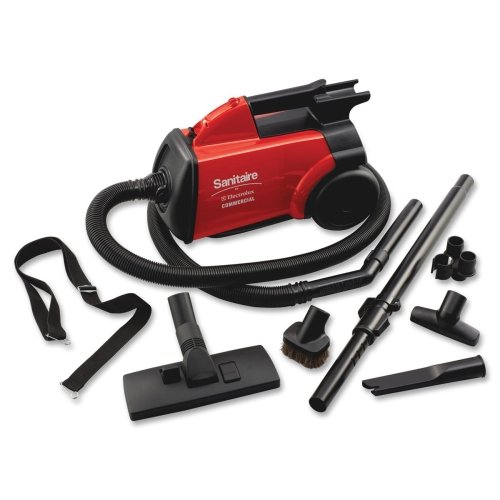 Wholesale CASE of 2 - Electrolux Sanitaire Commercial Canister Vacuum-Sanitaire Commercial Vacuum, 7' Hose, 20' Cord, 8 lb., Red