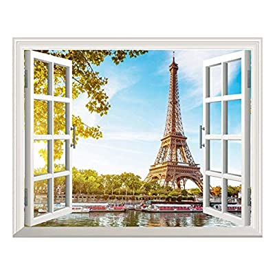Removable Wall Sticker Wall Mural Eiffel Tower View...