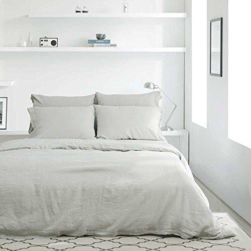 Nice Lausonhouse 100% Linen Duvet Cover Set - King - Natural free shipping