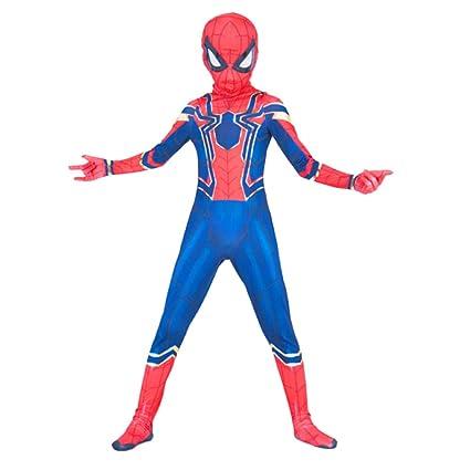WEGCJU Traje De Traje De Spiderman Disfraces Medias Disfraces De Deformación Fiesta De Halloween Apoyos Juguete para Niños Adultos Juego De ...