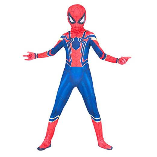 nihiug Avengers 3 Iron Spiderman Siamese Tights Cosplay ...