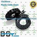 Ochoos 1 Lot(10pcs1000mm=1 lot) 15mm30mm CNC Plastic Cable Drag Chain TP 15x30 Cable Carrier for CNC Router Machine Tools