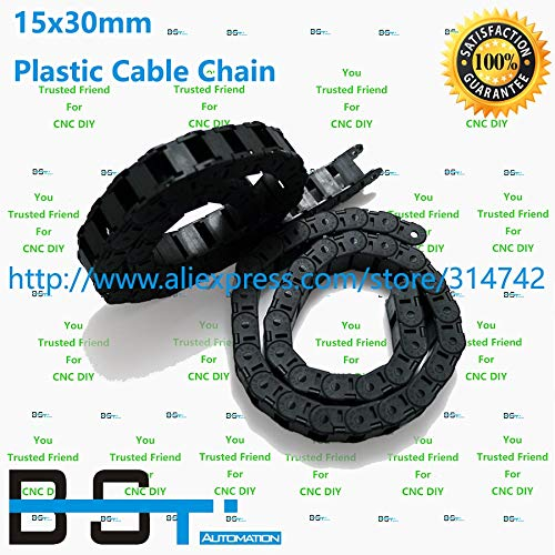 Ochoos 1 Lot(10pcs1000mm=1 lot) 15mm30mm CNC Plastic Cable Drag Chain TP 15x30 Cable Carrier for CNC Router Machine Tools