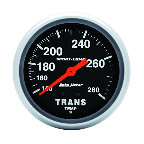 Auto Meter 3451 Sport-Comp Mechanical Transmission Temperature (Mechanical Transmission Temperature Gauge)