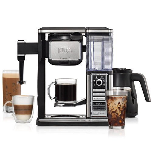 Complete Coffee System - Ninja CF091 Coffee Bar, Black/Silver (Renewed)