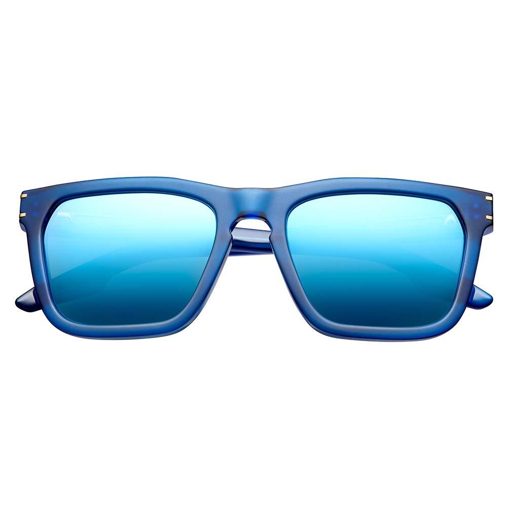 IVI Gravitas Sunglasses (Matte Midway Blue - Antique Brass)