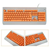 Bossi Backlit Keycaps Mechanical Keyboard Keycaps PBT Doubleshot Keycaps Replacement Cherry MX Mechanical Keyboard Keycaps with Key Puller - Orange