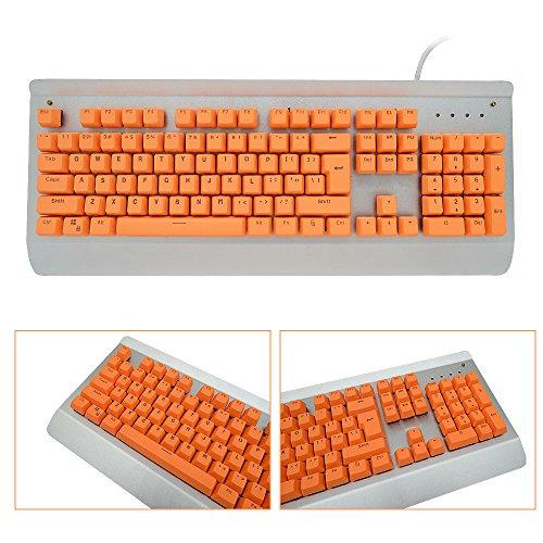 Bossi Backlit Keycaps Mechanical Keyboard Keycaps PBT Doubleshot Keycaps Replacement Cherry MX Mechanical Keyboard Keycaps with Key Puller - Orange
