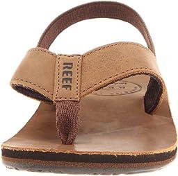 Reef Grom Leather Smoothy Sandal (Toddler/Little Kid/Big Kid),Bronze Brown,Small/Medium (7/8 M US Toddler)