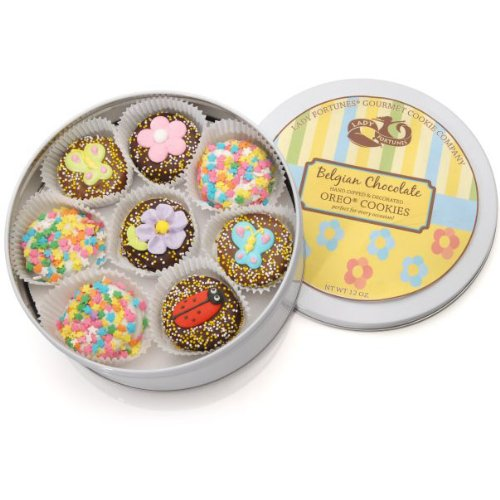 Spring Tin of 16 Belgian Chocolate Oreos