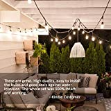 Svater 96Ft Outdoor String Lights,2Pack 48Ft Patio