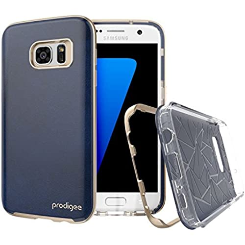 Samsung Galaxy S7 case, Prodigee [Trim] Vegan Leather Royal Blue for Galaxy S7 (2016) Cell Phone Case 2-piece [1-YEAR WARRANTY] Sales