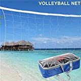 YaeTact 32X3FT Volleyball Net With Steel Cable Rope Official Size Outdoor Indoor USA Seller