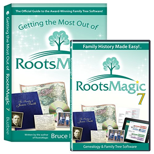 RootsMagic 7 Family Tree Genealogy Software / Book Bundle