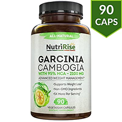 Pure Garcinia Cambogia Extract With 95% HCA For Fast Fat Burn. Best Appetite Suppressant & Carb Blocker. Natural, Clinically Proven Weight Loss Supplement. Best Garcinia Cambogia Raw Diet Pills.