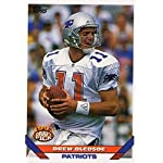 ef067892e7d The Jersey Source Autographs. Drew Bledsoe football card (New England  Patriots) 1993 Topps Draft Rookie  400.