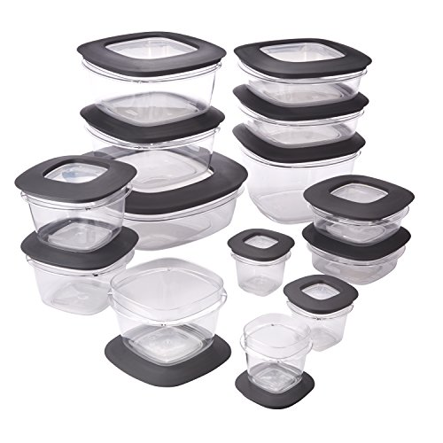 Rubbermaid Premier Easy Find Lids 28-Piece Food Storage Container Set, Grey (Storage Food Premier Rubbermaid)