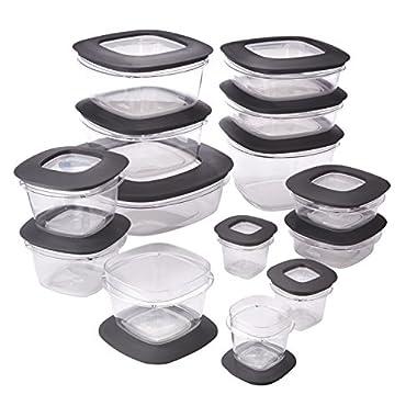 Rubbermaid Rubbermaid Premier Food Storage Containers, 28-Piece Set, Grey