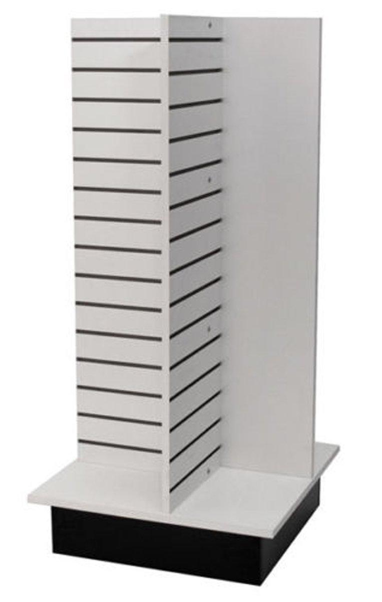 Slatwall Merchandiser Display Shop Shelving Fixture Knockdown USA Made White NEW