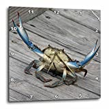 3dRose dpp_63150_2 Blue Crab-Marine, Creature, Animal, Animals, Wildlife, Ocean, Invertebrate, Crab, Seafood-Wall Clock, 13 by 13-Inch