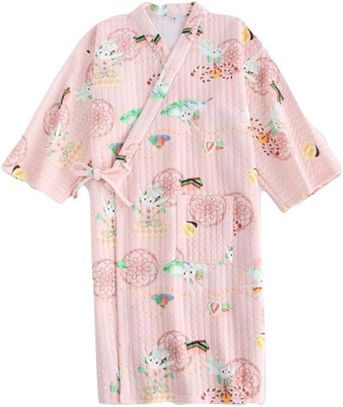 YTFOPLK Ropa De Dormir De Conejo Pijamas De Noche De Kimono Tela ...