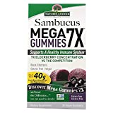 Nature's Answer Sambucus Mega Gummies 7X, Vegan Elderberry, 30 Count