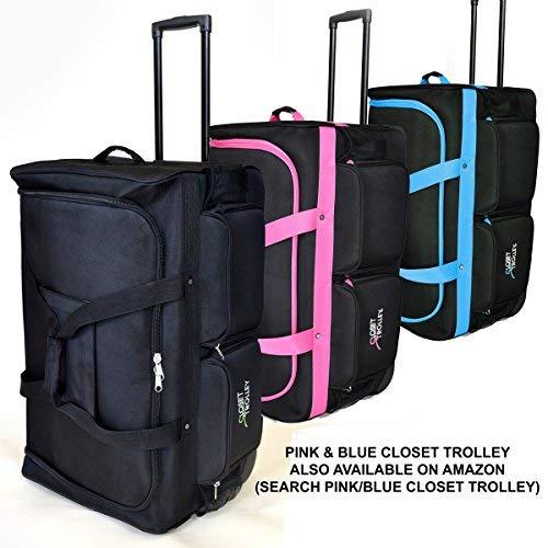 b0b76435d416 Closet Trolley Dance Bag with Garment Rack - BLACK DANCE DUFFEL