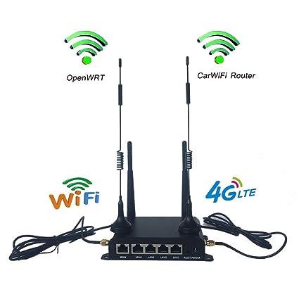 KuWFi OpenWrt 300 Mbps 4G Tarjeta SIM WiFi Router CPE Industrial ...