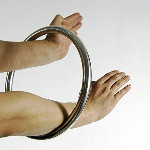 WUDETON Traditional Tsun Siu Lum Kung FU Wing Chun Stainless Ring Professional Strength Training 10 inch