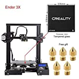 Comgrow Creality Ender 3 3D Printer with Tempered Glass Plate and Five Free