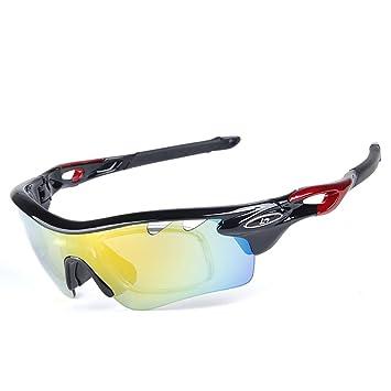 2e46ae3a00 Gafas de sol deportivas Gafas polarizadas con 5 lentes intercambiables  Protección Gafas de sol deportivas o ...
