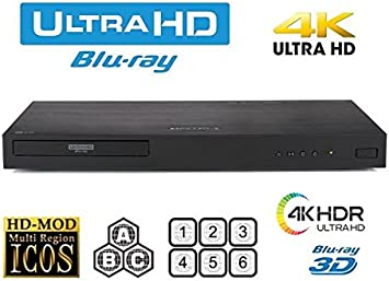 LG UP970 Blu-Ray Player w// 4K UltraHD Resolution 2 HDMI Ports /& Built-In Wifi