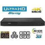 LG UHD 4K Region Free Blu Ray Disc DVD Player - PAL NTSC Ultra HD - USB - 100-240V 50/60Hz for World-Wide Use & 6 Feet…