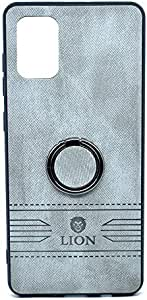 Leather Back Cover With Holder For Samsung Galaxy S11 By LION - Gray