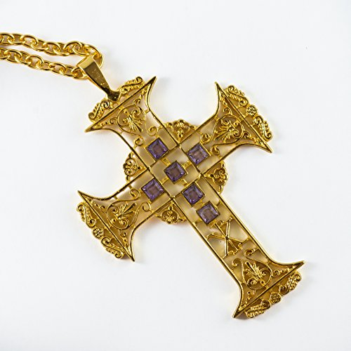 Filigree Gold Plated Pectoral Cross by mds