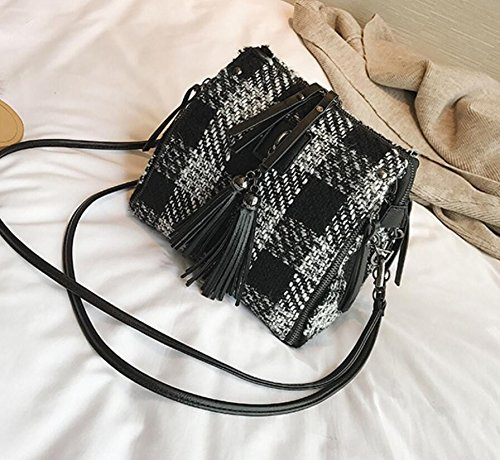 6efb5678480f1 Meaeo Frau Beutel Umhängetaschen Crossbody Handtasche Neue Single Diamond Kette  Schulter Alle Spiel Retro Plaid Reißverschluss  Amazon.de  Koffer