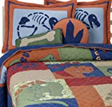Dinosaurs Stegosaurus 100% Cotton Twin Quilt & Sham Set