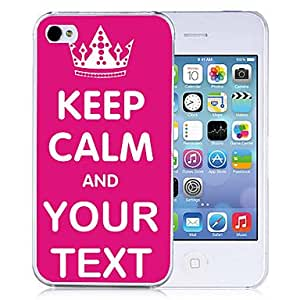 ZCL Personalized Gift Signature Keep Calm Style Back Case for iPhone 4/4S (Assorted Colors) , Line 1