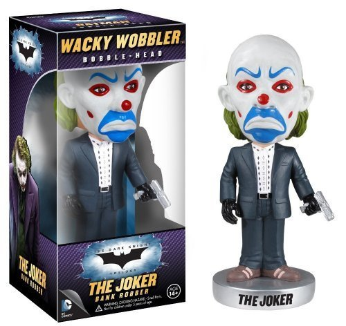 The Joker Bank Robber Bobble Head Figure: The Dark Knight Trilogy Wacky Wobblers Series (The Dark Knight Scarecrow)