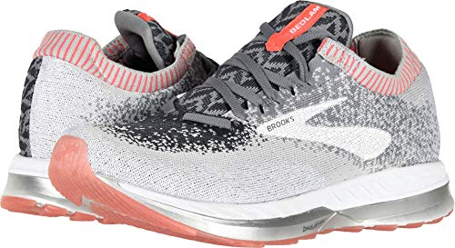 Brooks Women's Bedlam Grey/Coral/White 9 B US