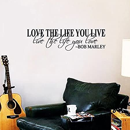 Wall Stickers Removable Love Life Live Living Room Decal Picture Art Decor Home & Garden